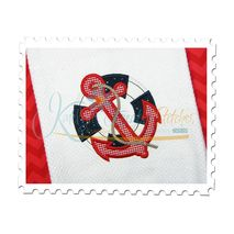 Anchor and Life Preserver Applique