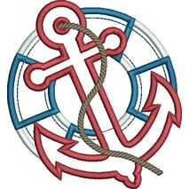 Anchor and Life Preserver Applique Snap Shot