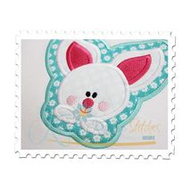 Baby Bunny Framed Applique Close Up