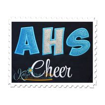 Back to School Applique Font (Cheer Text not included)