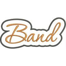 Band Applique Script Satin Snap Shot