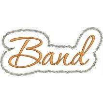 Band Applique Script Zig Zag Snap Shot
