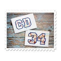 Baseball Applique Font
