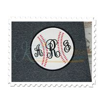 Baseball Applique Double Satin