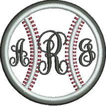 Baseball Applique Double Satin Snap Shot