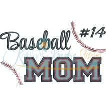 Baseball MOM Filled Snap Shot (Numbers not included)
