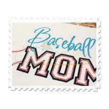 Baseball MOM Applique