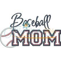 Baseball MOM Applique Snap Shot