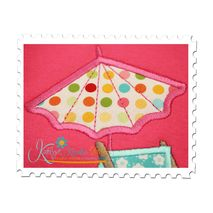 Umbrella Applique Close