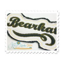 Bearkats Distressed Applique Close Up