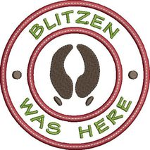 Blitzen was here applique