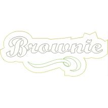 Brownie Distressed Applique Snap Shot