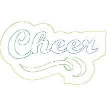 Cheer Distressed Applique Snap Shot