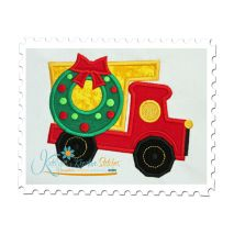 Christmas Dump Truck Applique