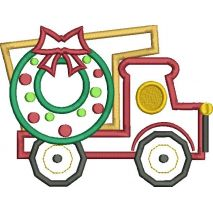 Christmas Dump Truck Applique Snap Shot