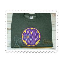 Circle Monogram Applique Sweatshirt