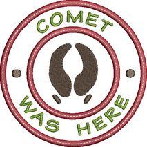 Comet was here applique