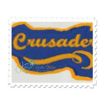 Crusaders Distressed Applique Close Up