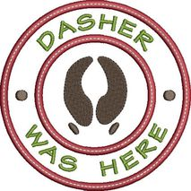 Dasher was here applique