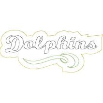 Dolphins Distressed Applique Snap Shot