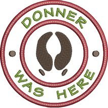 Donner was here applique