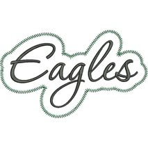 Eagles Applique Script Zig Zag Snap Shot