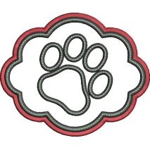 Elegant Frame Paw Applique Snap Shot