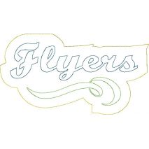 Flyers Distressed Applique Snap Shot