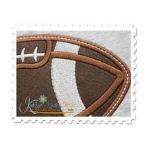 Football Applique Close Up