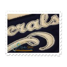 Generals Distressed Applique Close Up (Sweatshirt Material Shown)