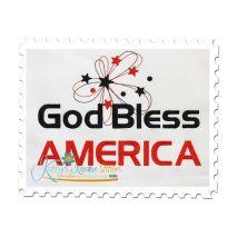 God Bless America (8x12 Fill Stitch)