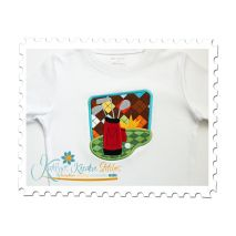 Golfing Applique Tee