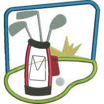 Golfing Applique Snap Shot