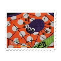 Halloween Web Applique (Shown with Wiggle Eyes)
