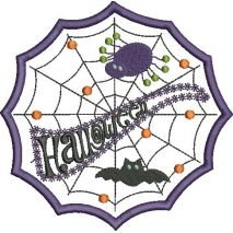 Halloween Web Applique Snap Shot