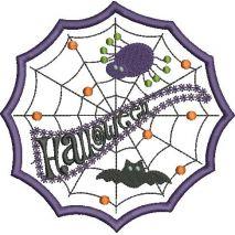 Halloween Web Applique Snap Shot