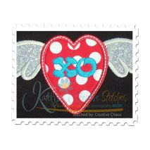 Heart with Wings Applique