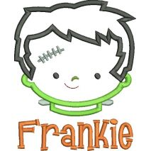 Little Frankie Applique Snap Shot (Text is not included)