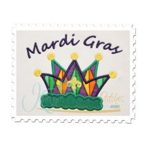 Mardi Gras Crown Applique