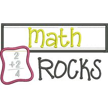 Math Rocks Chalkboard Applique Snap Shot