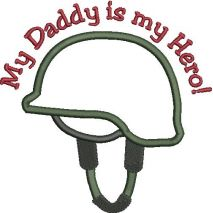 Military Helmet Applique Snap Shot