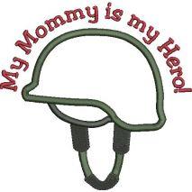 Military Helmet Applique Snap Shot