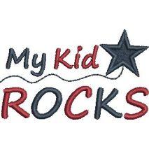 My Kids Rock Satin Snap Shot 4x4
