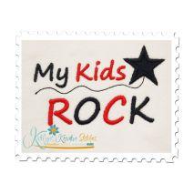 My Kids Rock Satin 4x4