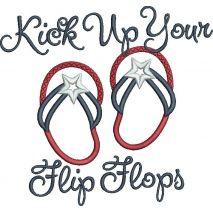 Kick Up Your Flip Flops Applique Snap Shot