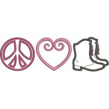 Peace Love and Drill Team Applique Snap Shot