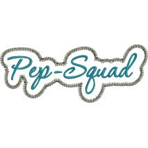 Pep Squad Applique Script Zig Zag Snap Shot