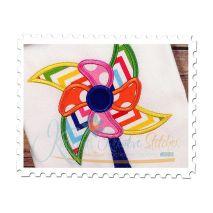 Pinwheel Applique Close Up