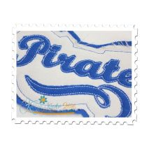Pirates Distressed Applique Close Up