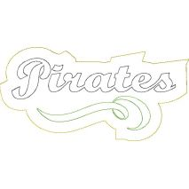 Pirates Distressed Applique Snap Shot